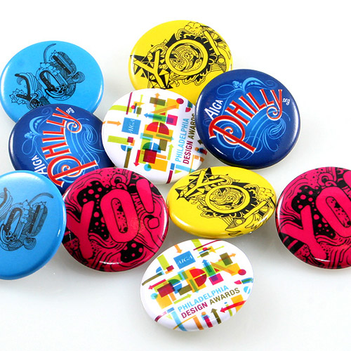 Artist, Designer and Clothing Company Buttons Sample Photo