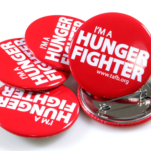 Charity / Non-Profit Custom Buttons Samples Photo