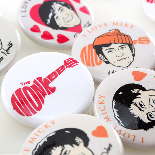 Music and Bands Custom Buttons Samples Photo