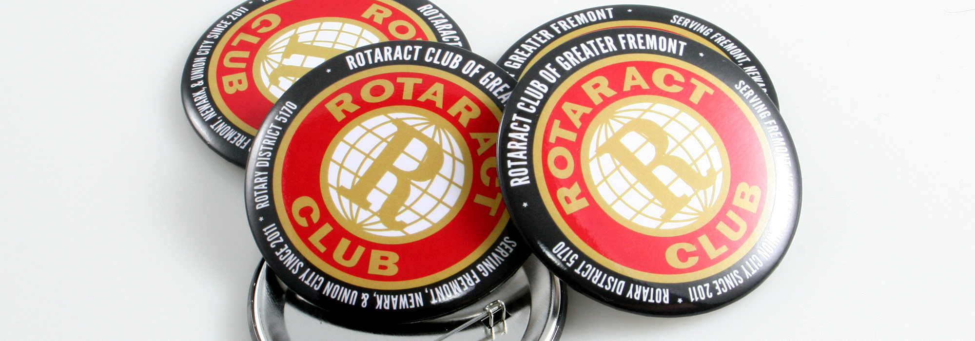 Round Custom Buttons Rotaract Club