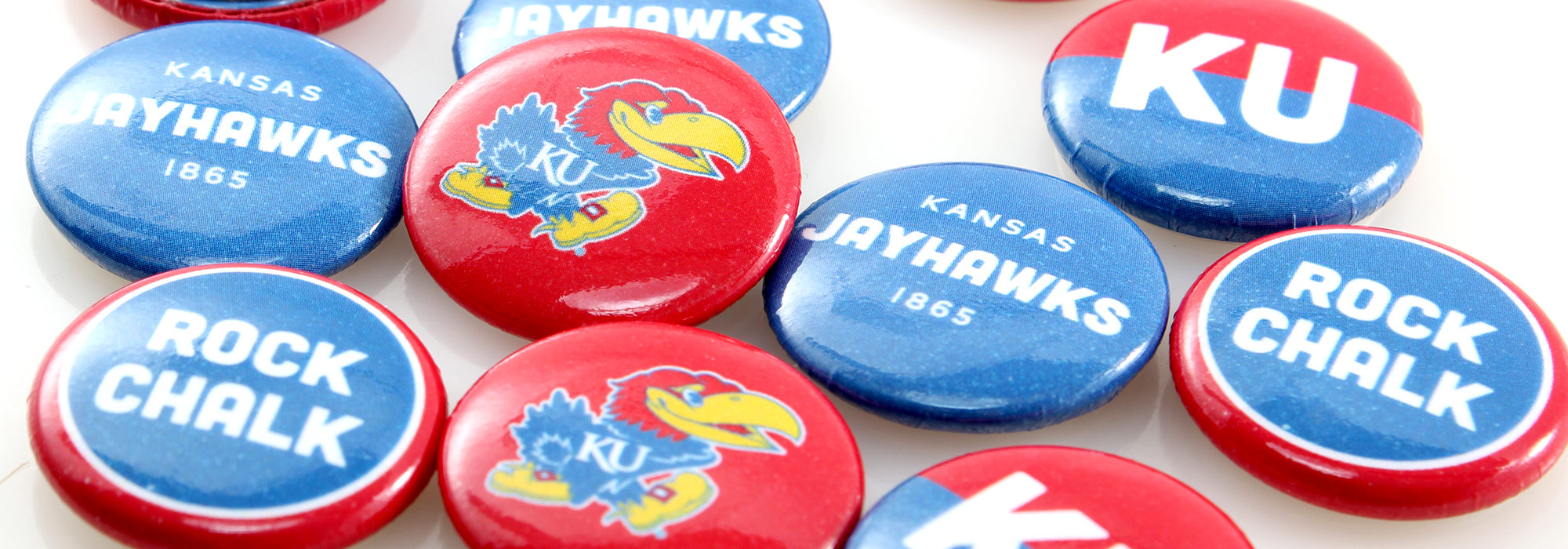 Round Custom Buttons Kansas University