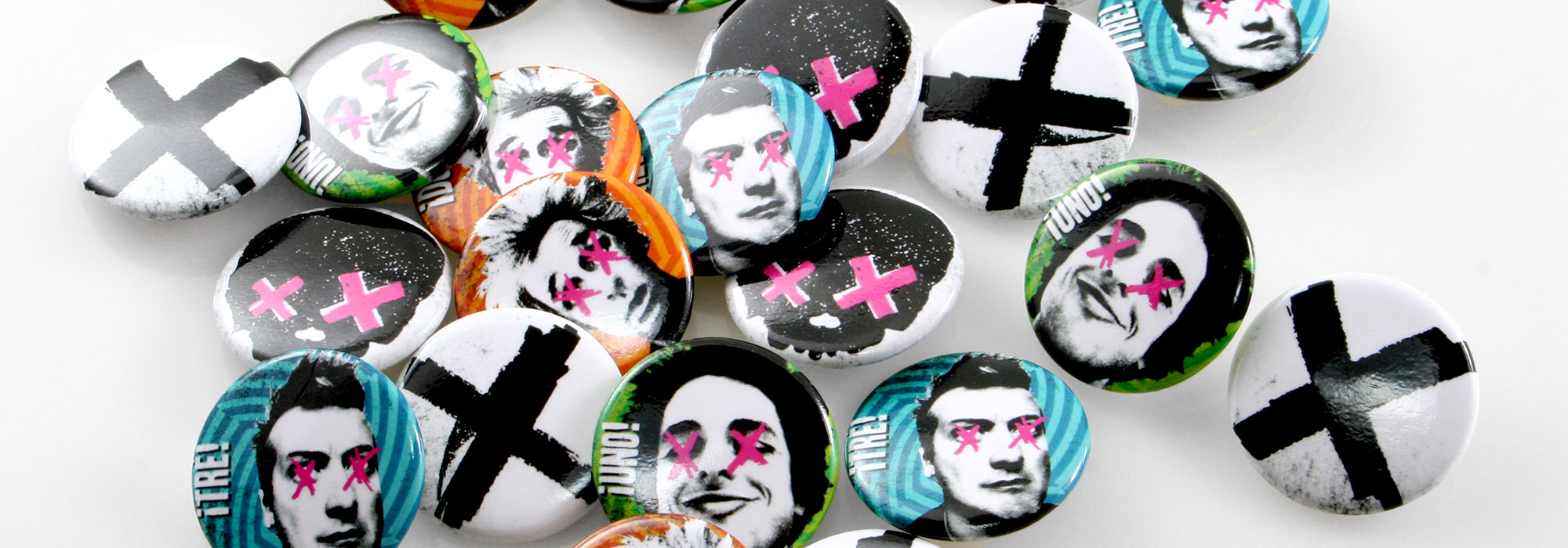 Round Custom Buttons Green Day