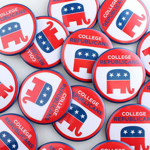 Political Campaign Buttons Sample Photo