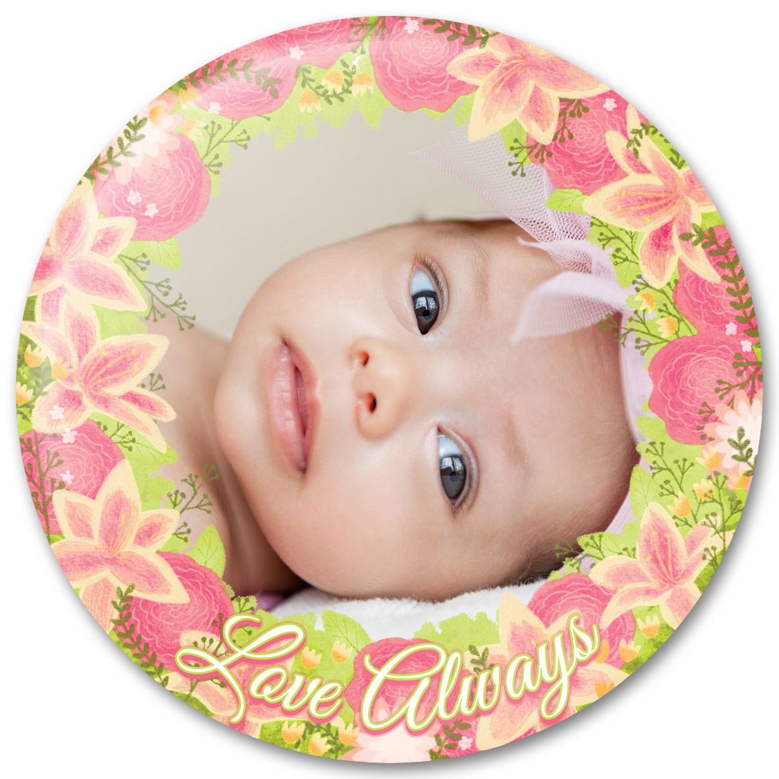 Love always flower bouquet baby photo gift border purebuttons surround your favorite photo with flowers and the words love always in this beautiful frame design by artist erin taylor this design is free to use in izmirmasajfo