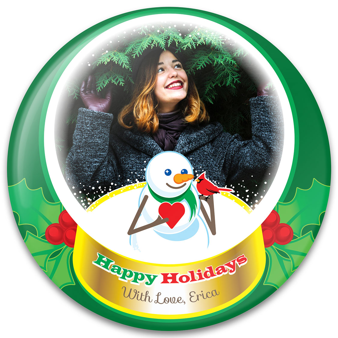 Snowg Lobe Photo Gift Design Christmas Gift Ideas Purebuttons