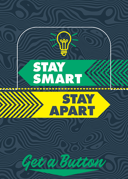 Stay Smart Stay Apart Button Box