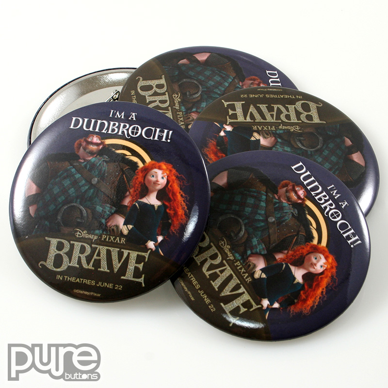 Disney Pixar Brave Custom Buttons